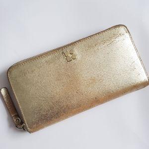 Kate Space Fullzip  Gold Metallic Lady Wallet